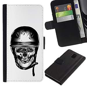 ZCell / Samsung Galaxy Note 3 III / Biker Helmet Motorcycle Britain / Caso Shell Armor Funda Case Cover Wallet / Motociclista Casco motocicleta G