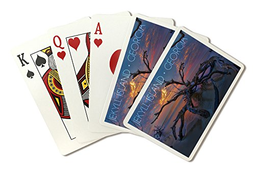 Jekyll Island, Georgia - Driftwood and Sunset (Playing Card Deck - 52 Card Poker Size with Jokers)