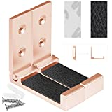 Foldable Wall Mount Headphones Holder, Headset Wall Hanger, Aluminum Wallmount Hook, Hold Up to 1kg with 3M Tape, 20kg with Screws, Stand Come with Headband Protective Pad (Rose Gold 2pcs)