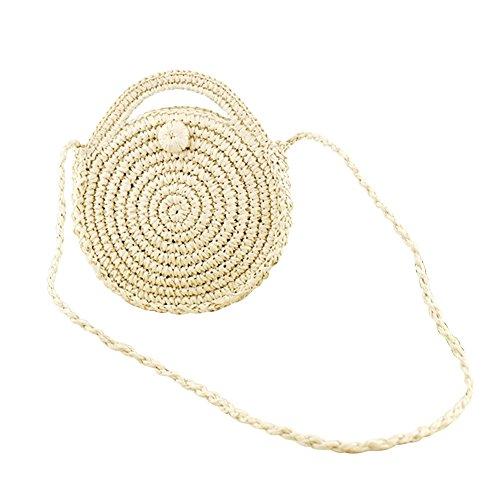 woven Bag Rattan Retro Beach Shoulder Bag Oshide Package Handwoven Round A Style Pure Hand wxqtgz