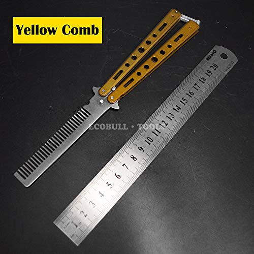 - Stainless Steel Folding Butterfly Knife Style Knife Comb Stunning Cs Go Practice Training Tool Knive Gift Toy HUANGSHU
