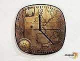 Old Map - England - France - Spain - Navigation - Novelty Gift - Custom Name Wall Clock