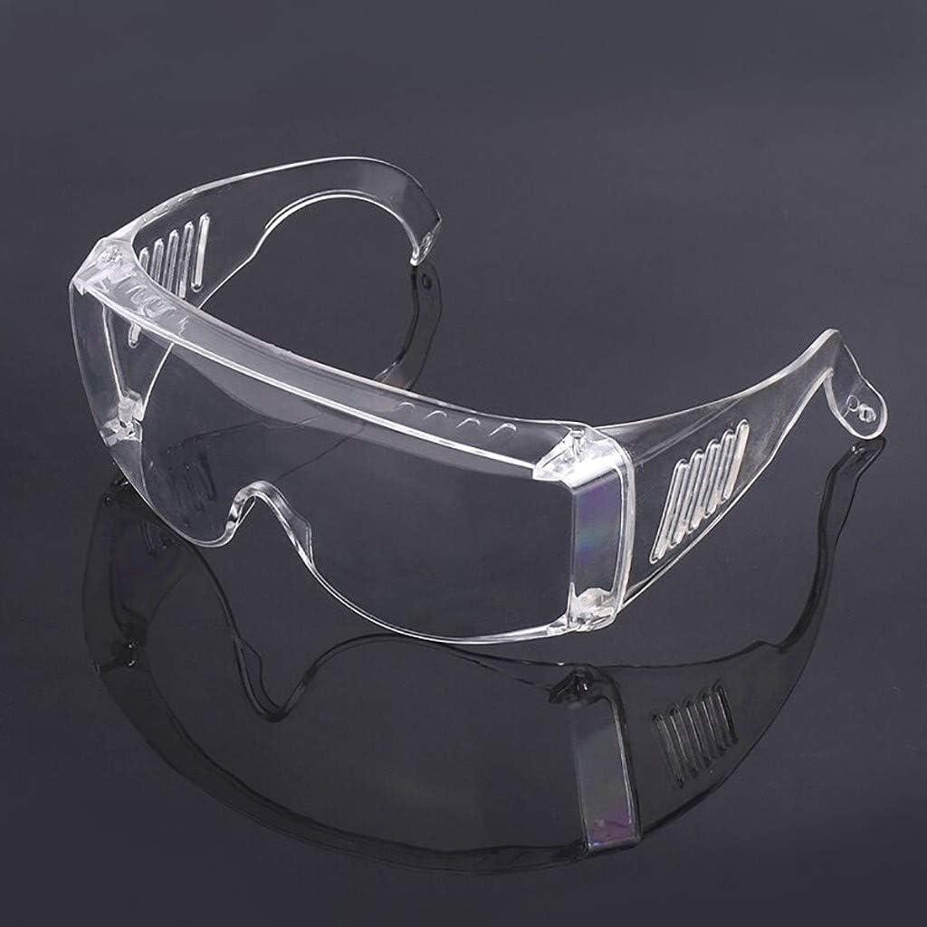 Werkstatt und Fahrrad-Fahren Leicht 1 St/ück klar und mit indirekter Bel/üftung F/ür Baustelle Labor Schutzbrille /Überbrille auch f/ür Brillentr/äger