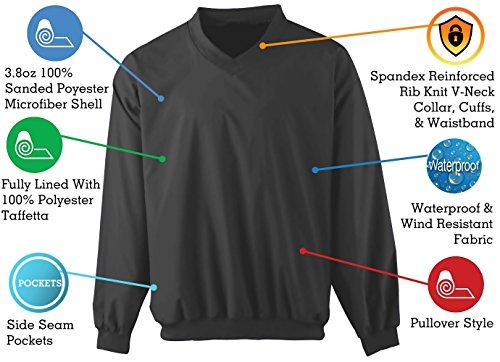 ComfortFinds Cross Creek's Microfiber Black Lightweight Wind Shirt Windbreaker Lined Pullover Waterproof Jacket (X-Large) - Weather Microfiber Jacket