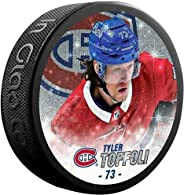 Inglasco Tyler Toffoli (Montreal Canadiens) Special Edition Glitter Photo Hockey Puck in Display Cube
