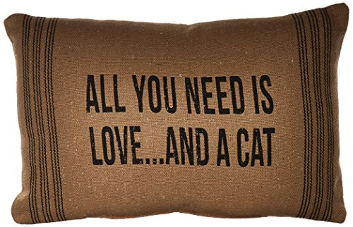 Primitives by Kathy And a Cat Dark Pillow, 10 by 15-Inch