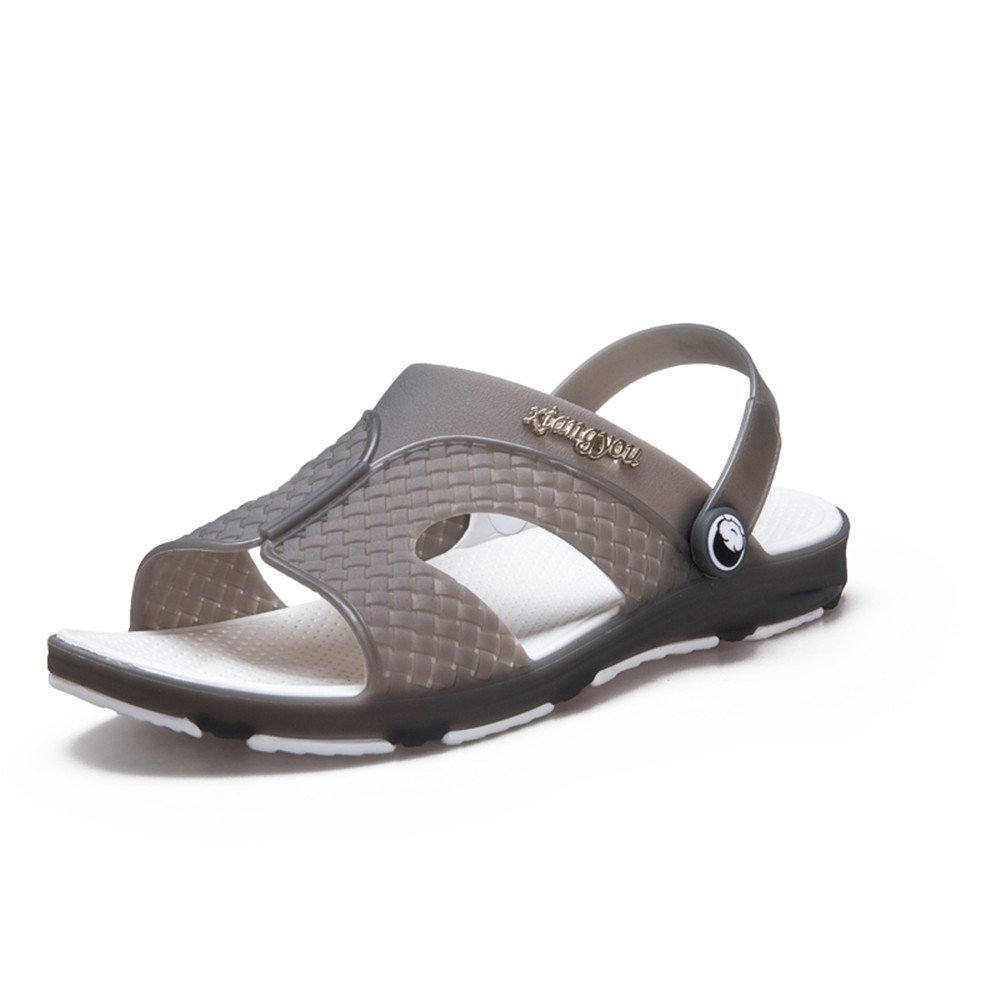 Color : Darkblue, Size : 8 M US Hishoes Mens Flat Heel Slip On Strap Casual Cool Switch Backless Sandals Anti-Slip