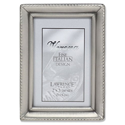 - Lawrence Frames Antique Pewter 2x3 Picture Frame - Beaded Edge Design