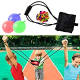 WhizBuilders Water Balloon Launcher Water Balloons Slingshot Cannon 3 Persona Balloon Launcher 250 Yard - Outdoor Water Game for Kids and Adults