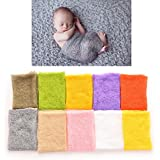 chiccharming 1 Pcs Newborn Baby Wrap Knitted Clothing Photography Props ,grey