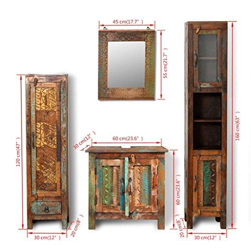 Amazon Com Festnight Bathroom Vanity Set Reclaimed Wood Cabinet