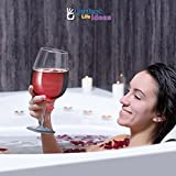 Unique Jumbo Giant Wine Glass - Big Extra Large Size 750 ml Party Drink Dispenser Cool Fancy Bar Drinking Glasses Elegant Beverage Goblet for Occasions -Holds Full Bottle of Wine by Perfect Life Ideas