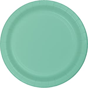 Creative Converting 324477 Touch of Color 96 Count Dessert/Small Paper Plates, Fresh Mint