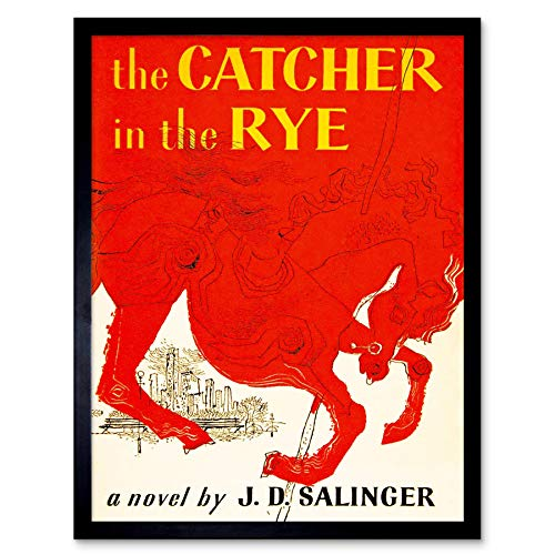 Amazoncom Wee Blue Coo Book Cover Catcher Rye Salinger Classic Red