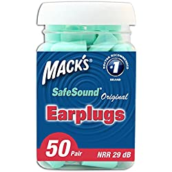 Mack's Ear Care Original Soft Foam Earplugs, 50 Pair