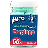 Health & Personal Care : Mack's Original Soft Foam Earplugs, 50 Pair - Comfortable Ear Plugs for Sleeping, Snoring, Work, Travel and Loud Events