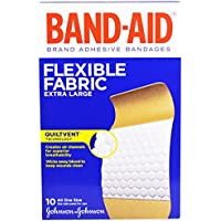Band Aid, Brand Adhesive Bandages, Flexible Fabric, Extra Large, 10 Bandages