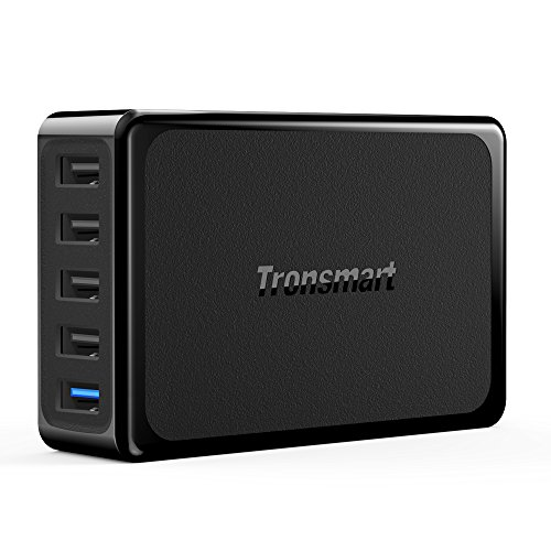 Tronsmart-54W-5-Port-USB-Charger-with-Quick-Charge-30-Technology-Black