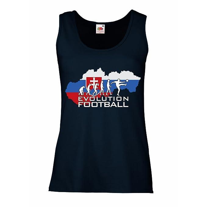 lepni.me Camisetas sin Mangas para Mujer Evolución Fútbol - El Equipo Nacional de Fútbol de Eslovaquia: Amazon.es: Ropa y accesorios