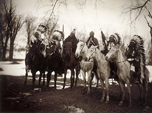 Native American Chiefs Nsix Tribal Chiefs In Ceremonial Attire Left To Right Little Plume (Piegan) Buckskin Charley (Ute) Geronimo (Chiricahua Apache) Quanah Parker (Comanche) Hollow Horn Bear (Brul S -