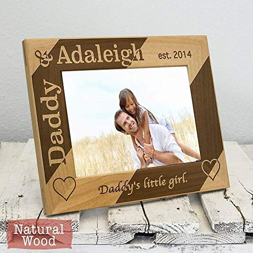 (Personalized Dad Picture Frame - Dad Gift From Daughters - Fathers Day Gift - Daddys Girls - Fathers Day Gifts for Dad)