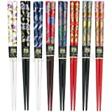 Japanese Style Lacquered Wood Chopstick for Children 8 Pair Set