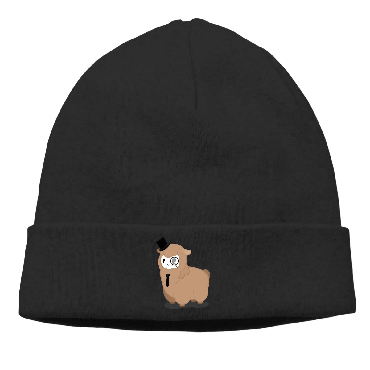 d344cf8d04588 Amazon.com  Alpaca Detective Sheep Unisex Winter Knitting Wool Warm Hat  Daily Slouchy Hats Beanie Skull Cap Black  Clothing