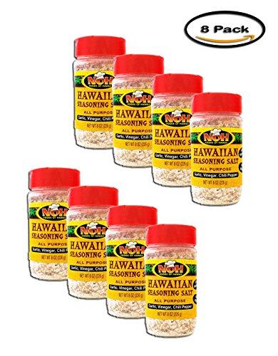 PACK OF 8 - NOH Foods of Hawaii Garlic, Vinegar, Chili Pepper All Purpose Hawaiian Seasoning Salt, 8 oz by SHAKE N BAKE