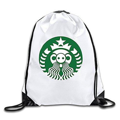 (ALIIXUN2 Star Angry Pig Drawstring Backpacks Sack)