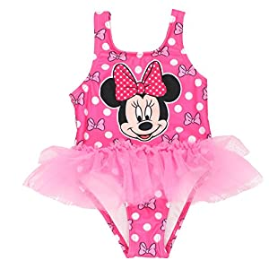 Disney Minnie Mouse Girls Swimwear Swimsuit (Baby/Toddler/Little Kid)