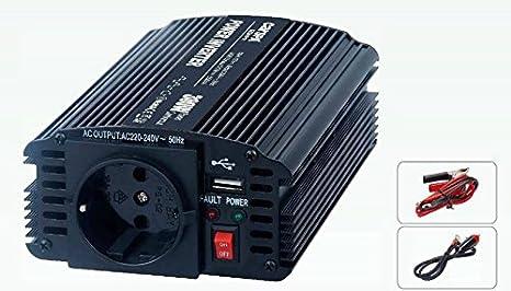 KIT SOLAR FOTOVOLTAICO AISLADA 300W CON PLACA DE 50W, BATERÍA 33AH AGM, REGULADOR LKS 5AH CON USB, INVERSOR ELEKSUN 12V 300W, CABLEADO CON CONECTORES ...