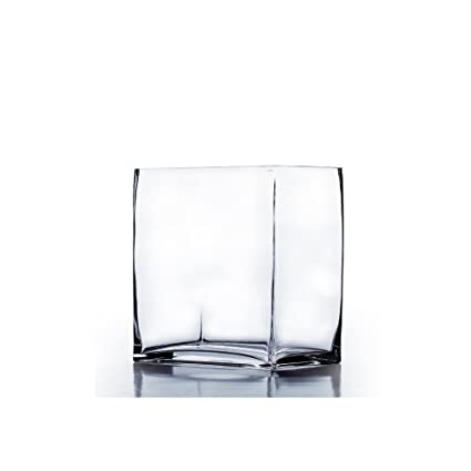 Amazon Wgvi Clear Rectangular Block Glass Vasecandle Holder