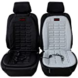 AUDEW Universal Heated Car Seat Cushion Cover 12-volt Plug's Into Cigarette Lighter