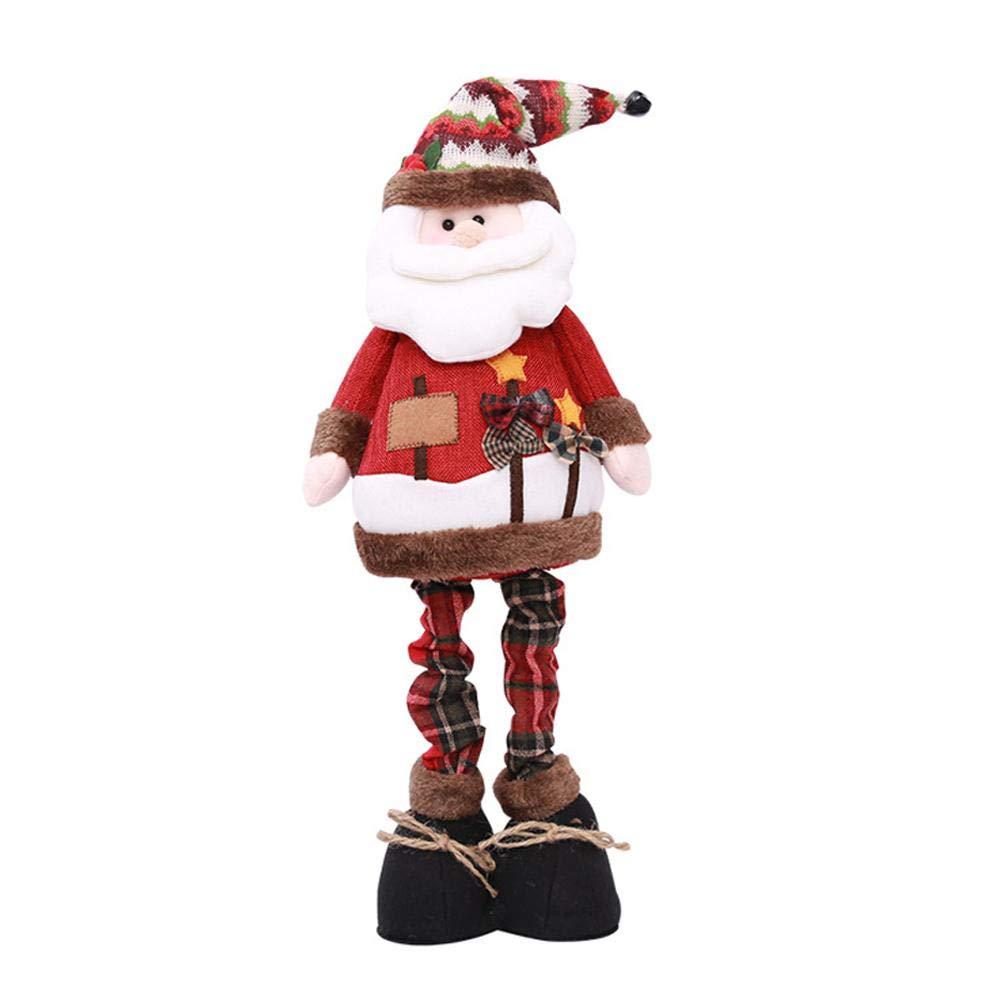 Dé corations de Noë l Pè re Noë l, bonhommes de neige et wapitis, Dé coration de Noë l, dé coration de fenê tre debout, té lescopique Décoration de Noël décoration de fenêtre debout télescopique Dedek