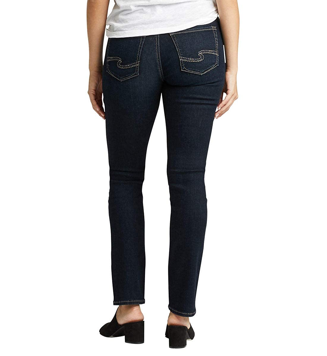 Womens Avery High Rise Straight Leg Jeans Silver Jeans Co