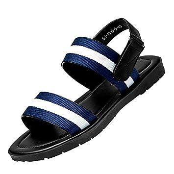 nackte männer sandalen, beach - schuhe, junge britische casual schuhen mit dicken sohlen, rutschfeste hausschuhe,42,blau