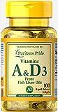 Puritan's Pride Vitamins A & D 5000/400 IU-100 Softgels Review