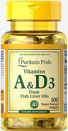 Puritan's Pride Vitamins A & D 5000/400 IU-100 -