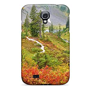 Hot Snap-on Colorful Mountains Hard Cover Case/ Protective Case For Galaxy S4