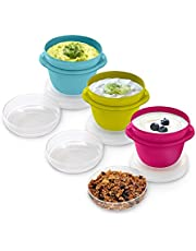 Rubbermaid 2 Cup Take Along On-the-Go Snack Food Storage Container (2 Pack), Assorted Colors