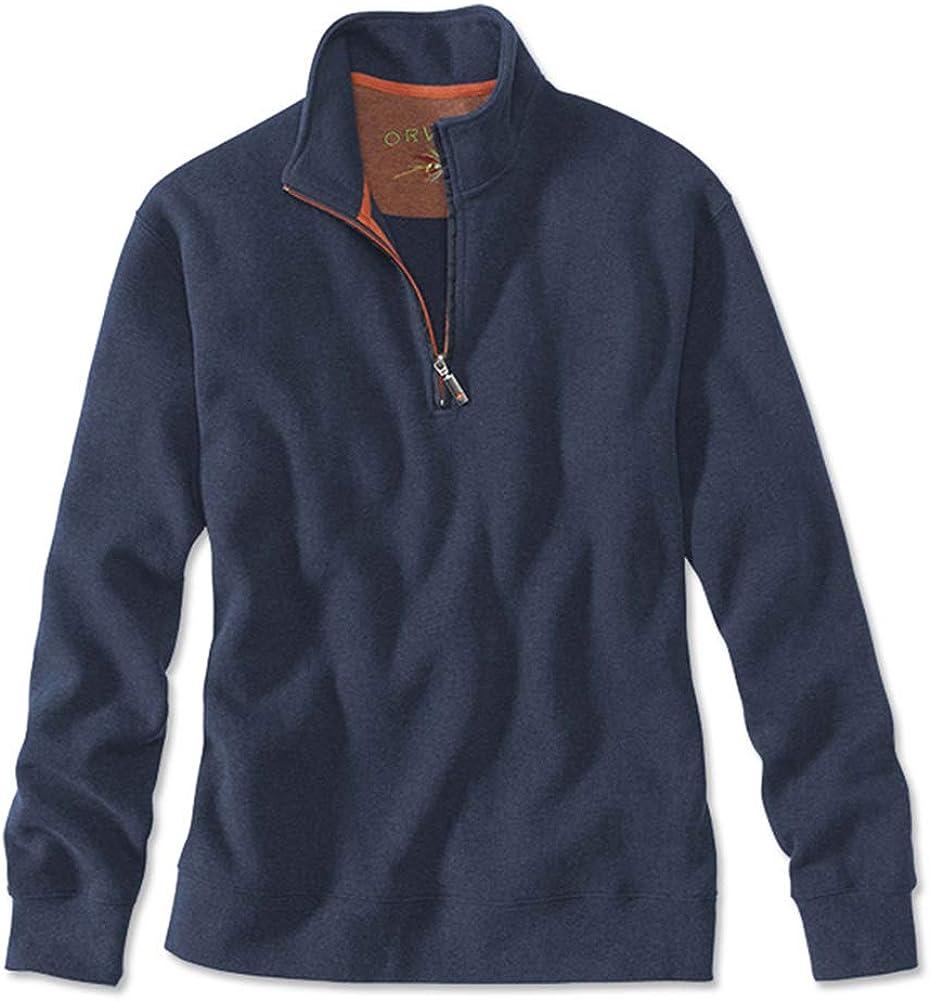Orvis Mens Signature Quarter Zip Pullover Sweater