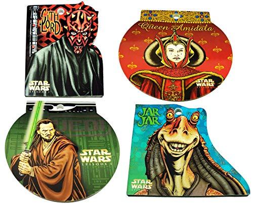 Star Wars Episode 1 - Set of 4 Memo Pads - Darth Maul, Amidala, Jar Jar, Jinn. -