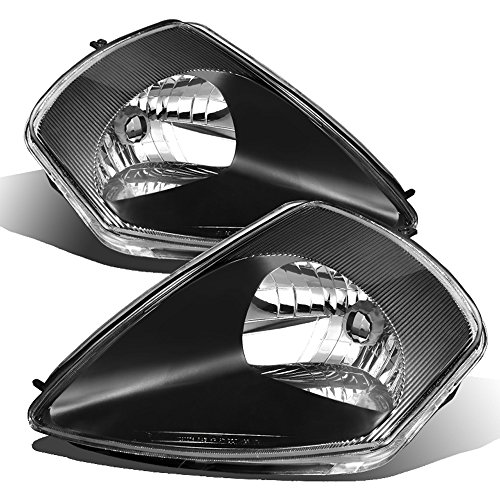 ACANII - For Blk 2000-2005 Mitsubishi Eclipse Replacement Headlights Headlamps Set Driver + Passenger Side