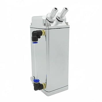 heinmo cuadrado Universal Aluminio Depósito de aceite Catch Tanque Del Respiradero puede Turbo 750 ml: Amazon.es: Coche y moto