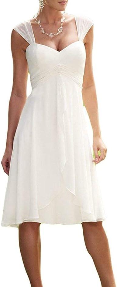 knee length beach wedding dress