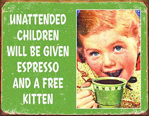 Desperate Enterprises Ephemera - Unattended Children Tin Sign, 16