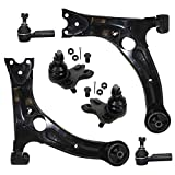 Pontiac Vibe Axles & Components - Detroit Axle - 6PC Front Lower Control Arms w/Ball Joints and Outer Tie Rods for 2003 2004 2005 2006 2007 2008 Pontiac Vibe/Toyota Matrix - 2WD FWD ONLY