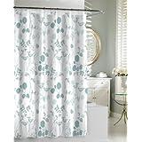 Kassatex SCG-115-SPA Giardino Shower Curtain, Spa Blue
