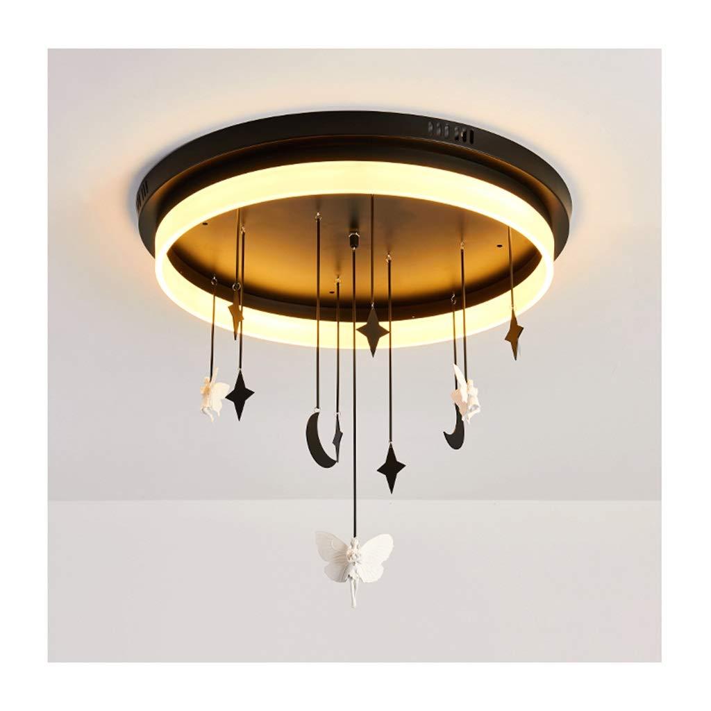 天井照明 シーリングライトノルディックロマンティックシーリングランプ、アイアンアクリルLED調光、リビング/寝室/ダイニング/研究室インテリア照明[エネルギークラスA ++] シーリングライト (色 : つの暖かい光 5つのあたたかいひかり, サイズ さいず : 55cm/30w) 55cm/30w つの暖かい光 5つのあたたかいひかり B07SCS74GJ