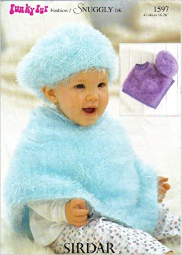 Sirdar Knitting Pattern 1597 Babys And Childrens Funky Fur